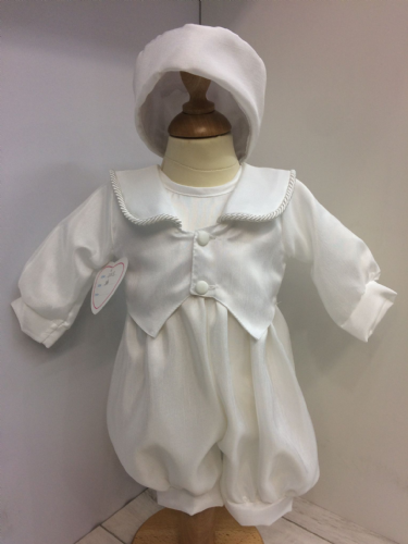 Christening Romper with Tailcoat